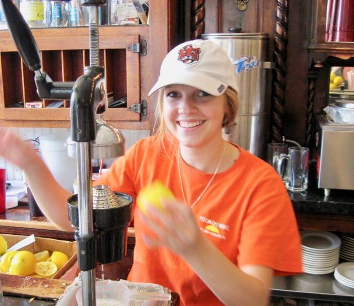 Auburn fresh squeezed Lemonade from Toomer's Drugs photo by Kathy Miller