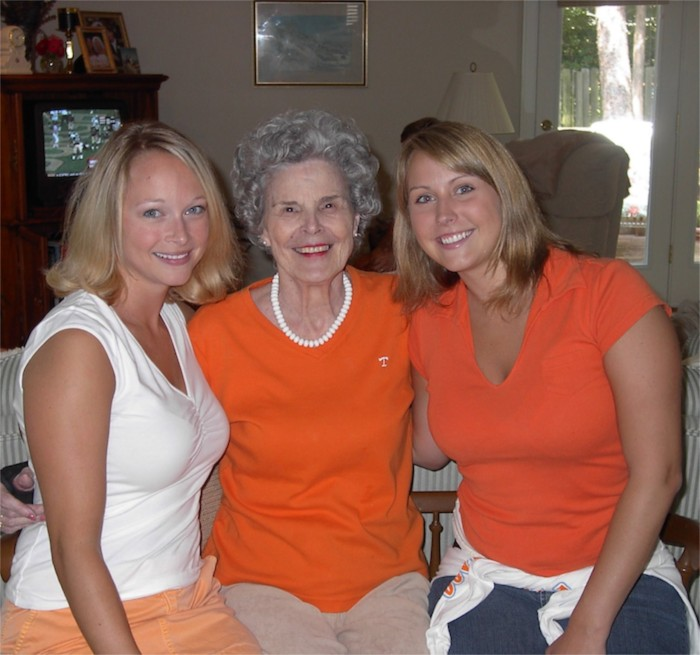 Sarah, Grandma & Katie Tennessee fans photo by Kathy Miller
