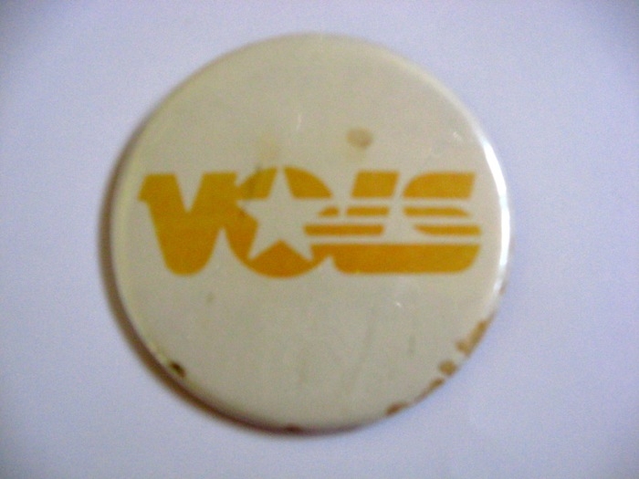 Tennessee Vols button photo by Kathy Miller