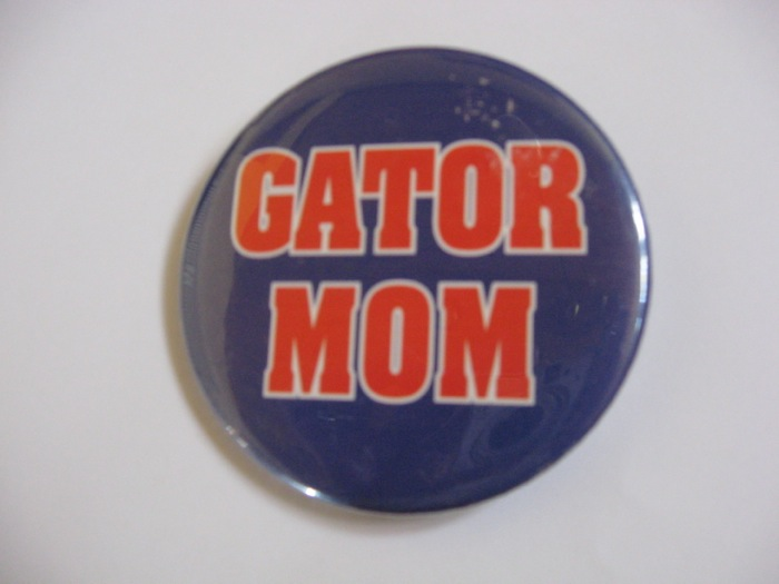 Gator Mom button photo by Kathy Miller