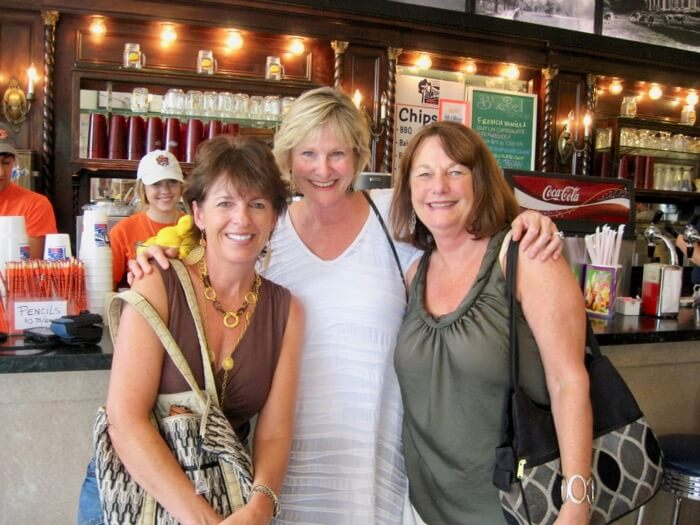 Pam, Kathy and Joanne at Toomer's Drugs photo by Kathy Miller