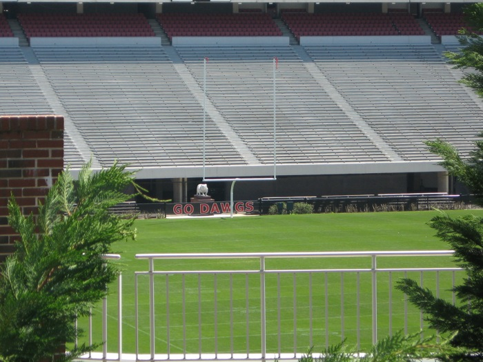 Go Dawgs University of Georgia Sanford Stadium football field photo by Kathy Miller