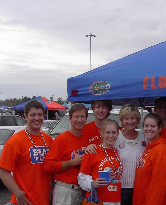 Tailgating with James and Lizzy's friends Florida Georgia game photo by Kathy Miller