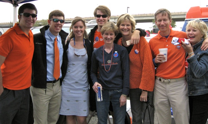 Florida Georgia game with Gator friends photo by Kathy Miller