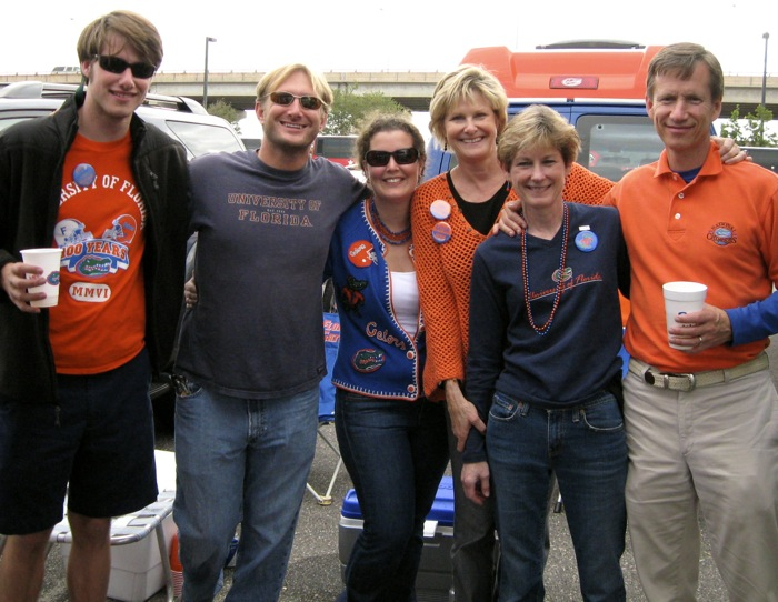 Florida Georgia game with Parks family photo by Kathy Miller