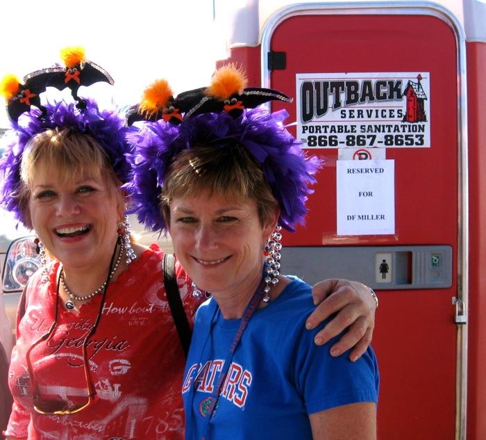 Florida Georgia game portable potty photo by Kathy Miller
