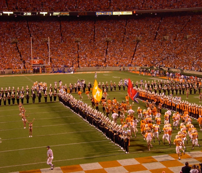Tennessee's Opening of the T Knoxville game photo by Kathy Miller