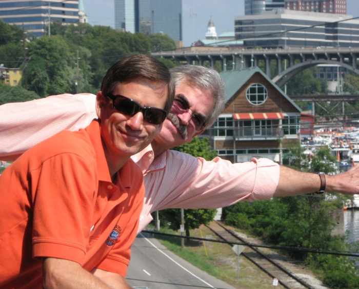 Curt and Dave tailgating high above the Vol Navy photo by Kathy Miller