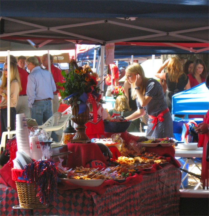 Tailgating in the Grove at Ole Miss photo by Kathy Miller
