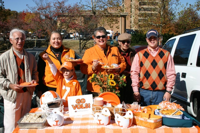 Joy McCabe and family Tailgates in Knoxville Tennessee UT fans photo by Joy McCabe