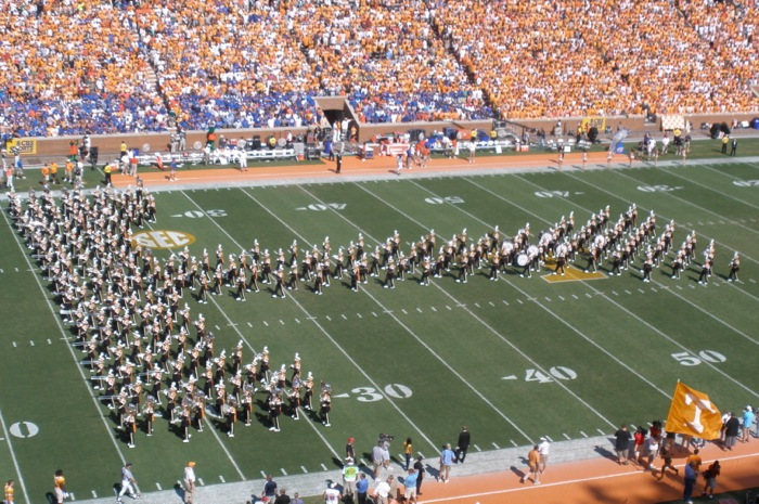 UT Pride of the Southland Band Power T photo by Kathy Miller