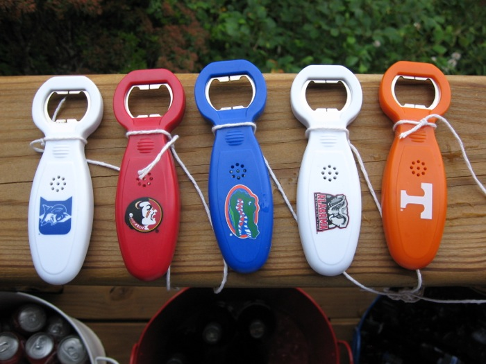 Beer openers Duke FSU Gators Bama and the most important Tennessee photo by Kathy Miller