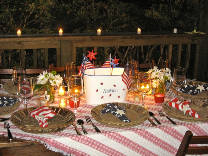 4th of July table Camp Chimney photo by Kathy Miller