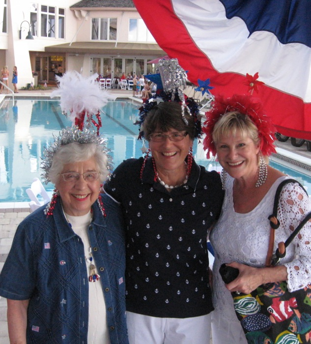 Barbara, Sue and Kathy 4th of July Amelia Island Florida photo by Kathy Miller