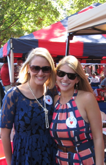 Ole Miss KD's in The Grove photo by Kathy Miller