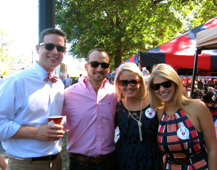 Ole Miss tailgating at The Grove photo by Kathy Miller