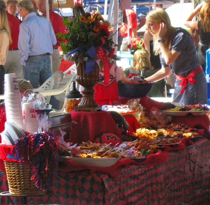 Tailgating In The Grove special tailgating tables photo by Kathy Miller