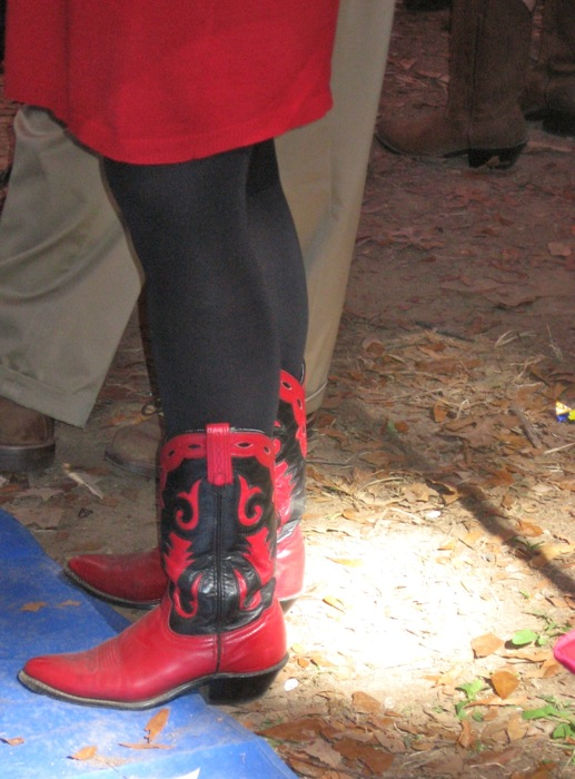 Boots at Ole Miss Oxford in the Grove photo by Kathy Miller
