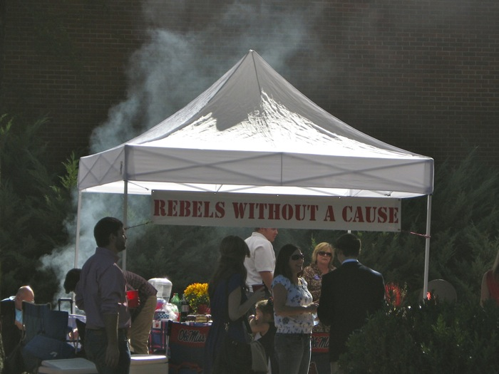 Rebels Without A Cause tailgating tent Ole Miss photo by Kathy Miller