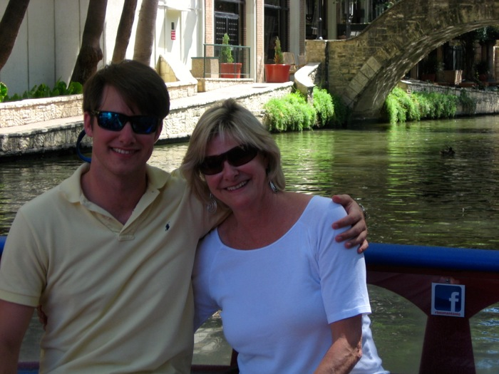 James & Kathy River Walk San Antonio boat tour photo by Kathy Miller
