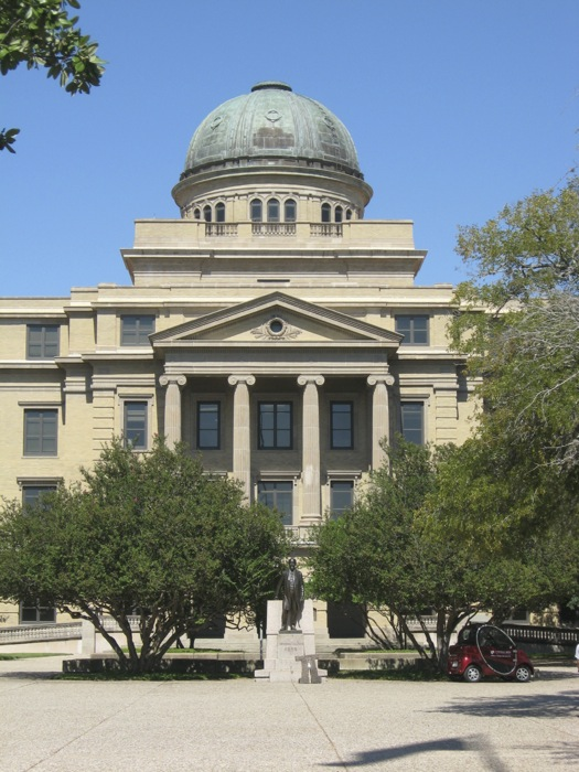 The dome on the Academic Building, Texas A&M photo by Kathy Miller