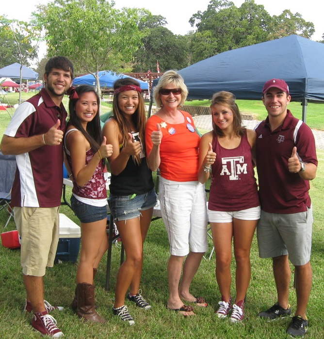 Kathy and her Aggie Friends Gig 'em Aggies photo by Kathy Miller
