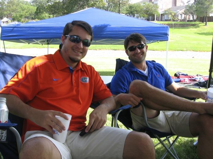 Ryan & Gavin at Gator Texas A&M game photo by Kathy Miller