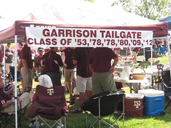 Garrison Tailgate Texas A&M alumni photo by Kathy Miller