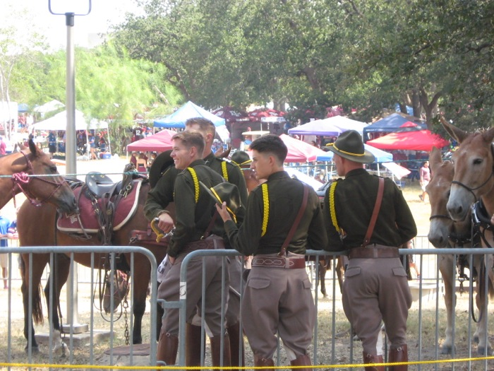 Cadets & their horses photo by Kathy Miller