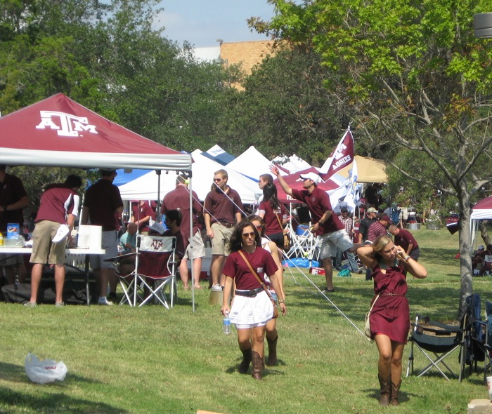 Girls in Boots at Texas A&M photo by Kathy Miller
