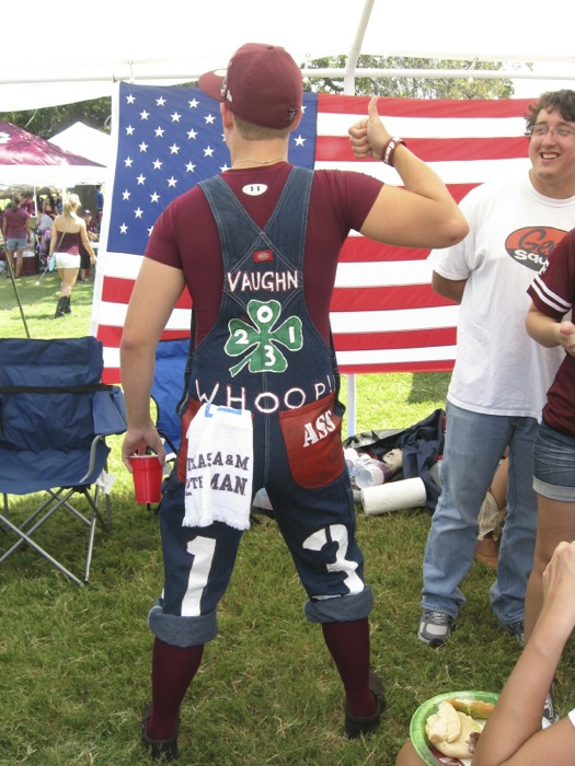 The rear of my favorite Aggie photo by Kathy Miller