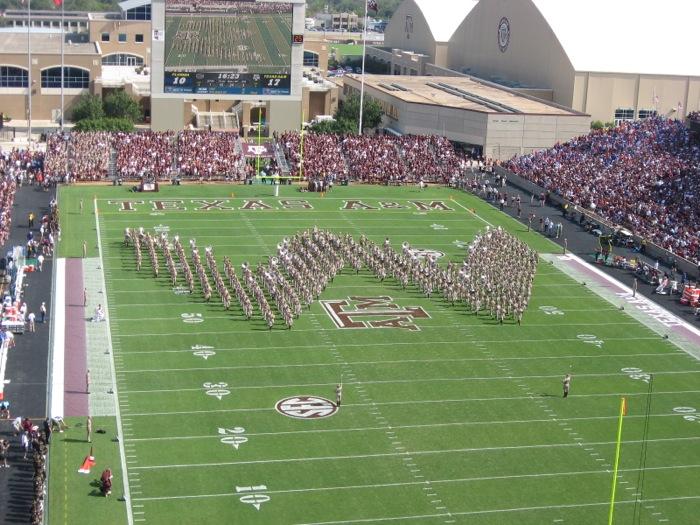 Fightin' Aggie Band Texas A&M photo by Kathy Miller