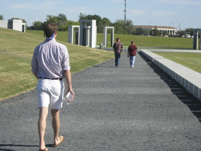 James visiting the Bonfire Memorial