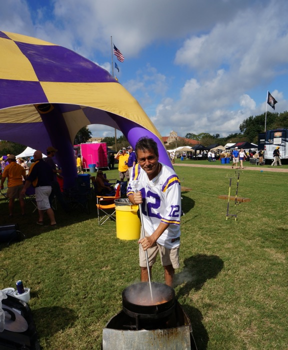 Gator Picadillo in Black Iron Pot LSU game photo by Kathy Miller