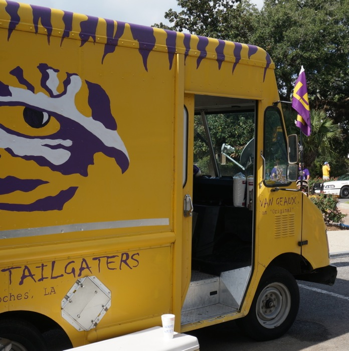 Tailgating Van Geaux photo by Kathy Miller