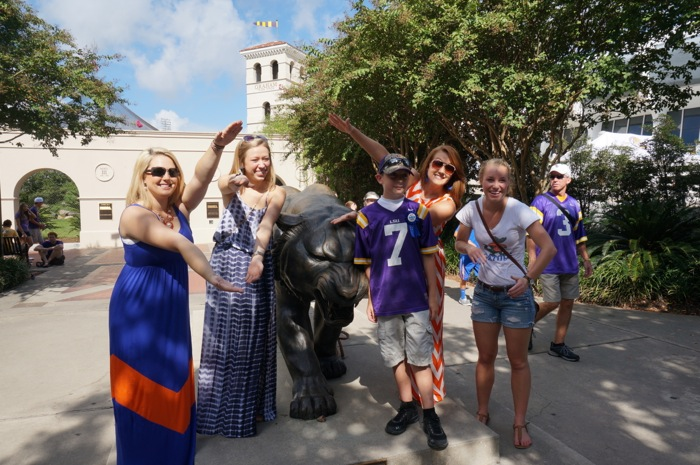 Gator Chomping with the LSU Tiger photo by Kathy Miller