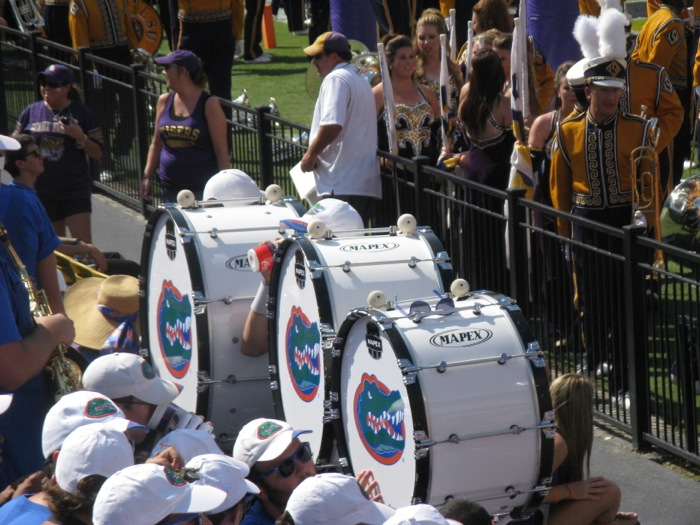 Gator drummers at LSU photo by Kathy Miller