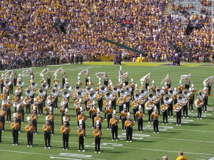 LSU Tiger Band in Baton Rouge photo by Kathy Miller