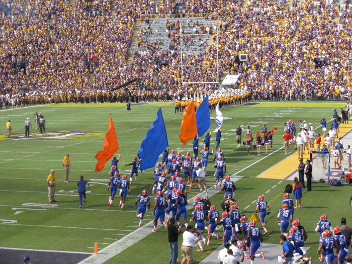 Gators at LSU photo by Kathy Miller