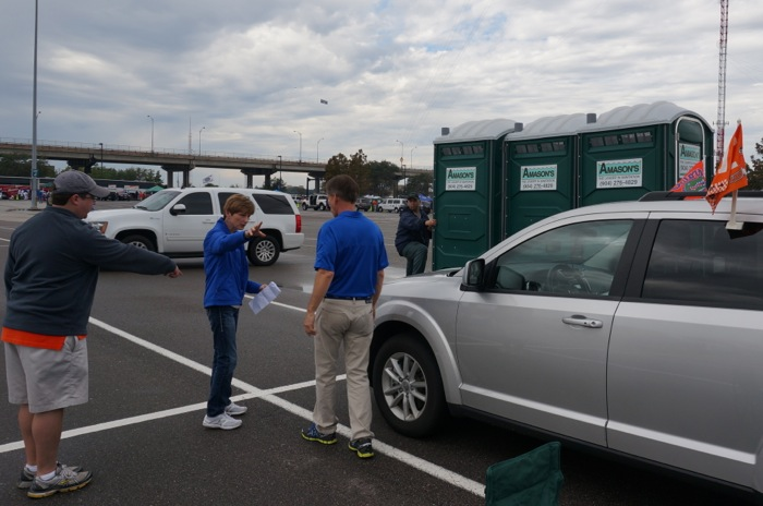 Porta-Potty delivered photo by Kathy Miller