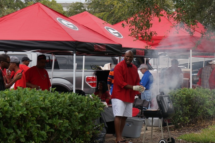 Grilling at the FL GA game Jacksonville FL photo by Kathy Miller