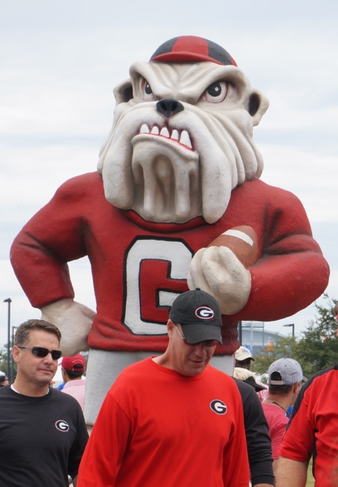 UGA with the guys photo by Kathy Miller