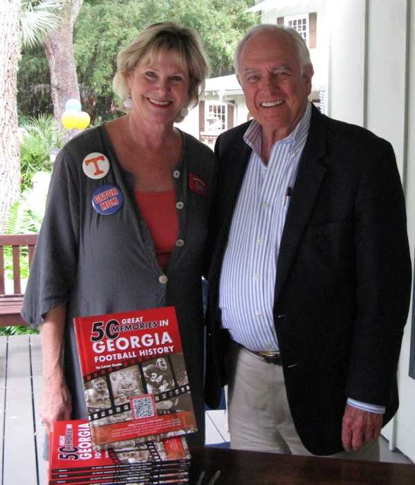 Kathy & Loran Smith author 50 Great Memories in Georgia Football History photo by Kathy Miller