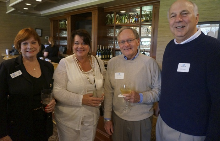 Ann Moser, Pam Cox, Ken Axetell & Bill Moser at Bobby Cox luncheon photo by Kathy Miller