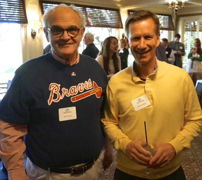 Bill Frank wore his Braves t shirt with Dave Miller Photo by Kathy Miller