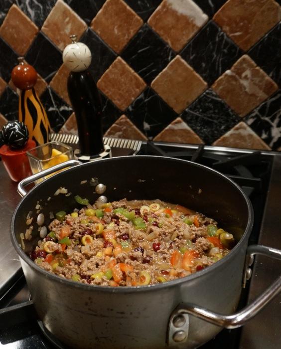 Picadillo Recipe, Cuban/Spanish comfort food photo by Kathy Miller