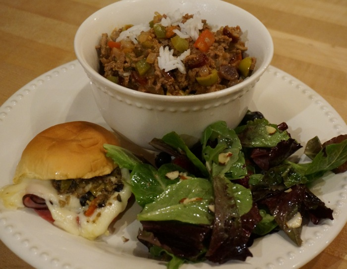 Picadillo & Muffuletta Sliders ala New Orleans photo by Kathy Miller