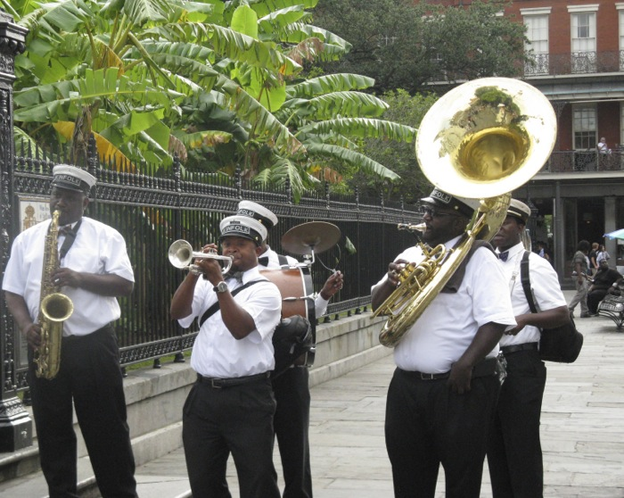 New Orleans Band Mardis Gras photo by Kathy Miller