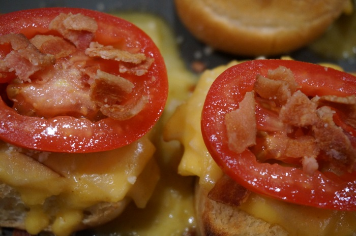 Baby Hot Browns with tomato and bacon Louisville Kentucky photo by Kathy Miller