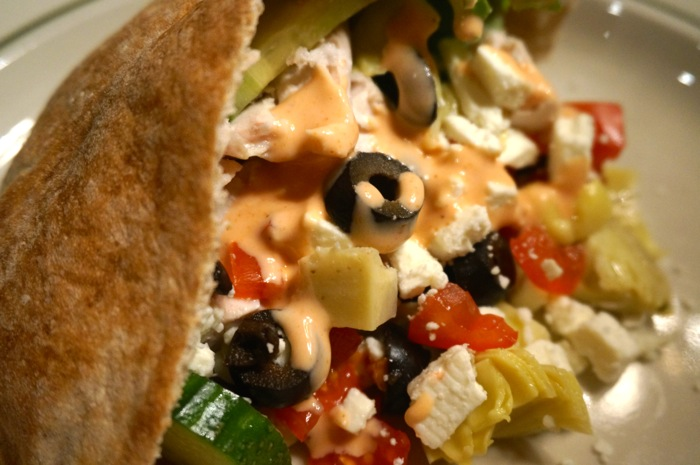 Chipati Salad in a Warm Pita Pocket photo by Kathy Miller